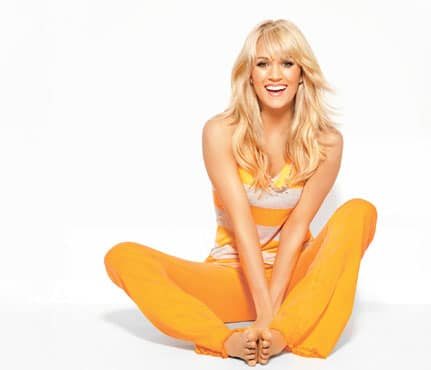 Carrie Underwood in yellow