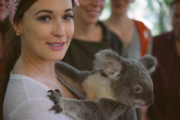Kacey Musgraves and a koala
