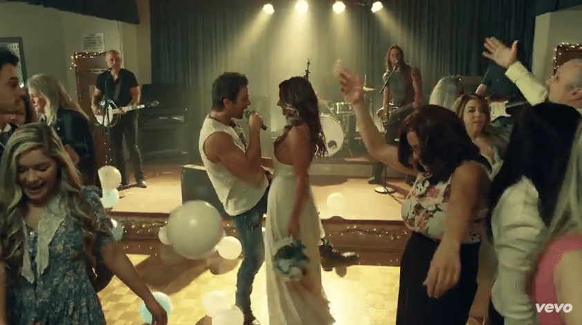 Kip Moore and the bride