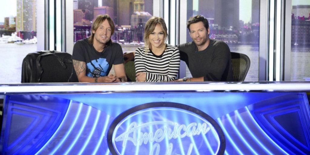 AMERICAN IDOL XIII: L-R: Keith Urban,Jennifer Lopez and Harry Connick Jr. CR: Michael Becker / FOX. © Copyright 2013 / FOX