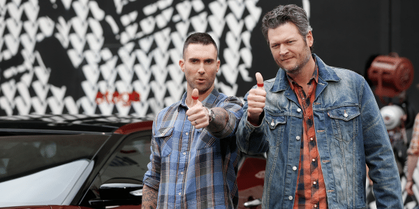 Blake Shelton and Adam Levine Red Thumb