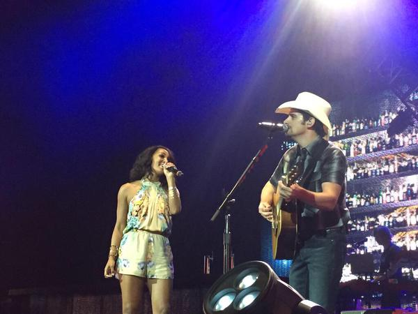 Mickey Guyton and Brad Paisley