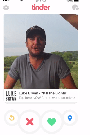 Luke Bryan on Tinder