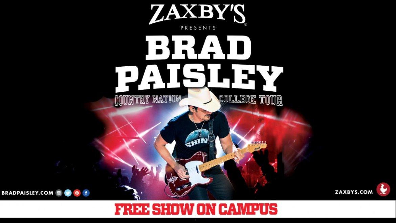 Brad Paisley college tour