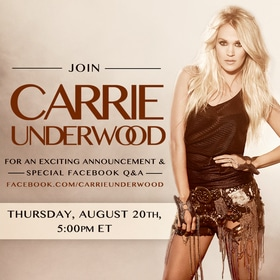 Carrie Underwood special announcement