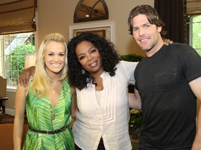 Carrie Underwood with Oprah