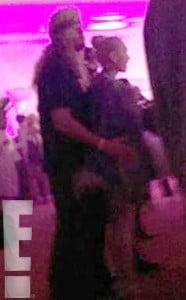 Blake Shelton and Gwen Stefani touch
