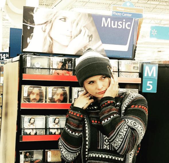Miranda Lambert poses in Walmart