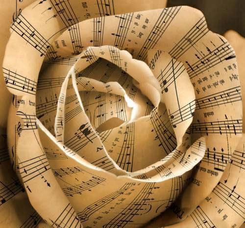 sheet music rose