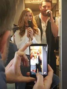Chris Young and Cassadee Pope Join the Mile High Club