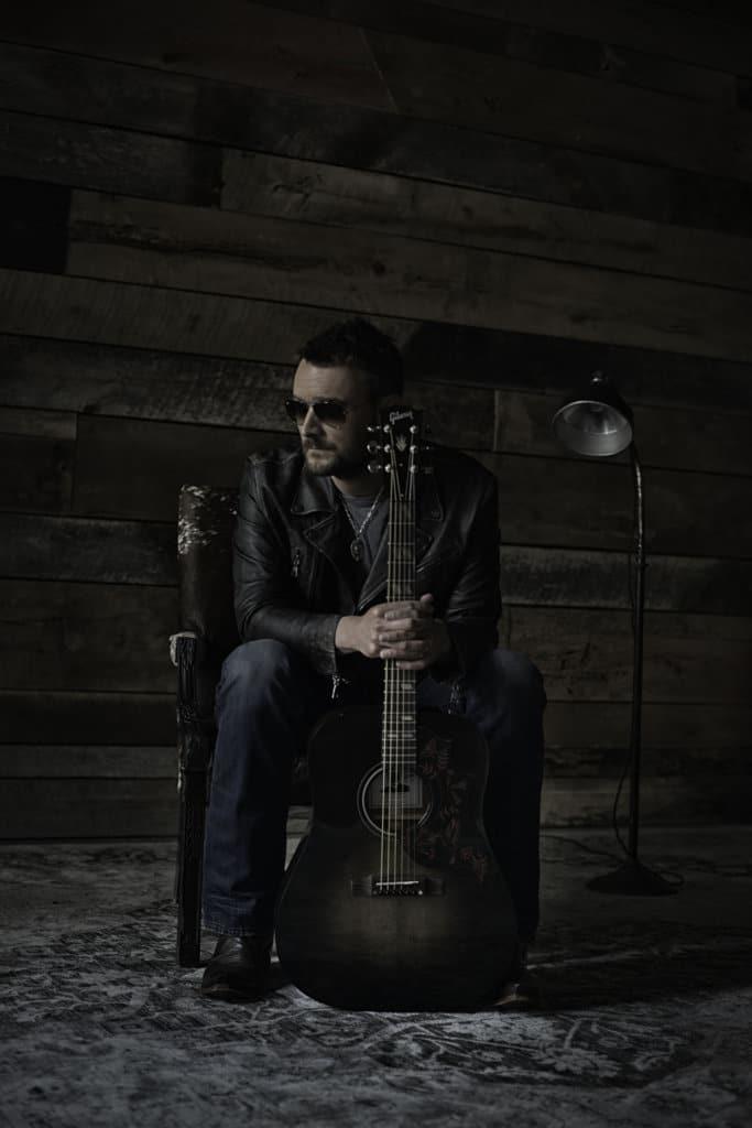 Eric Church with Signature Gibson Guitar, Hummingbird Dark / Credit: John Peets