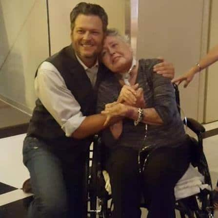 Blake Shelton and Brenda Roberts