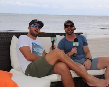 Luke Bryan and Cody Alan enjoy a cigar. Image: Instagram/CMTCody