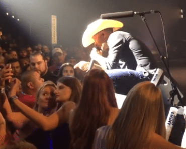 selfie with angry justin Moore