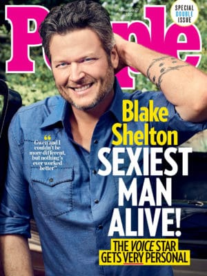 Blake Shelton Sexiest Man Alive 2017 cover